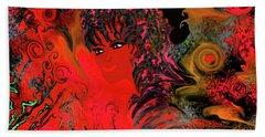 woman art Beautiful Brazilian Woman Hand Towel