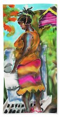 Woman At The Well Hand Towel