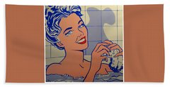 Woman In Bath Hand Towel