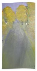 Woman Walking In Evening Hand Towel