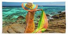 Woman With Sarong Bath Towel
