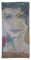 Woman's Portrait - Untitled Hand Towel