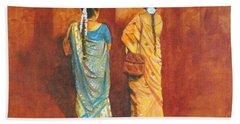 Women In Sarees Bath Towel