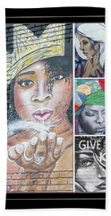 Collage Of Women Hand Towel