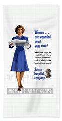Women's Army Corps - Ww2 Bath Towel