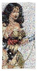 Wonder Woman Comics Mosaic Hand Towel by Paul Van Scott