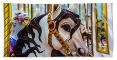 Wonderful Carrousel Horse Portrait  Hand Towel