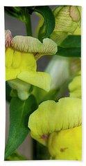 Wonderful Nature - Yellow Antirrhinum Bath Towel