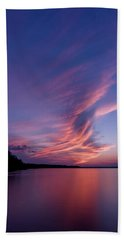 Hand Towel featuring the photograph Wonderful Skeleton Lake Sunset by Darcy Michaelchuk
