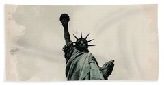 Wonders Of The Worlds - Lady Liberty Hand Towel