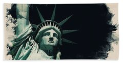 Wonders Of The Worlds - Lady Liberty Of New York 2 Hand Towel