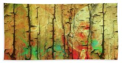 Hand Towel featuring the digital art Wood Abstract by Deborah Benoit