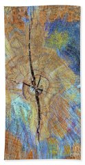 Wood Cracks Hand Towel by Todd Breitling