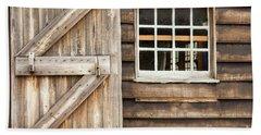 Wood Door And Window Bath Towel