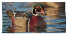 Wood Duck 4 Hand Towel