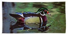 Hand Towel featuring the photograph Wood Duck by Marie Hicks