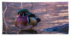 Wood Duck Resting Bath Towel