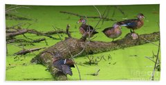 Wood Ducks Hand Towel