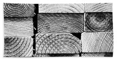 Wood Ends. #abstract #pattern Hand Towel
