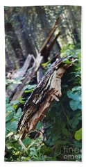 Wood In The Forest Hand Towel by Janie Johnson