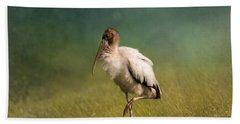 Wood Stork - Balancing Hand Towel by Kim Hojnacki