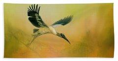 Wood Stork Encounter Hand Towel