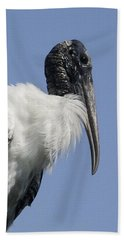Wood Stork Portrail Bath Towel
