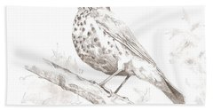 Wood Thrush Bath Towel