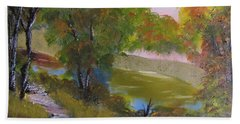 Wooded Scene Bath Towel