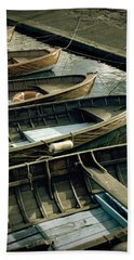 Wooden Boats Bath Towel