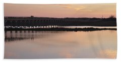Wooden Bridge And Twilight Hand Towel by Angelo DeVal