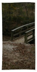 Hand Towel featuring the photograph Wooden Bridge by Kim Henderson