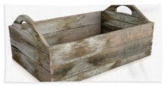 Wooden Carry Crate Bath Towel