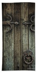 Wooden Church Door Bath Towel