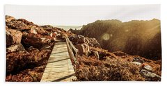 Wooden Mountain Paths Hand Towel