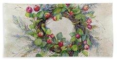 Woodland Berry Wreath Bath Towel