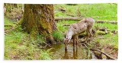 Woodland Caribou Bath Towel