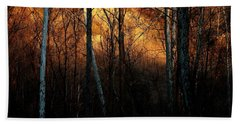 Woodland Illuminated Bath Towel by Bruce Patrick Smith