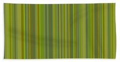 Woodland Moss - Stripes - Green Hand Towel