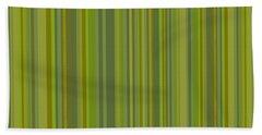 Woodland Moss - Stripes - Green Bath Towel