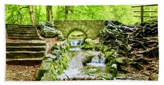 Woodland Steps And Stream Bath Towel