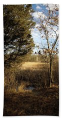 Hand Towel featuring the photograph Woodland View  by Kimberly Mackowski