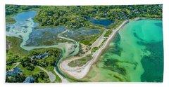 Woodneck Beach At 400 Feet Hand Towel