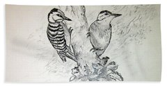 Woodpecker Hand Towel