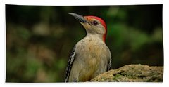 Woodpecker Rock Hand Towel