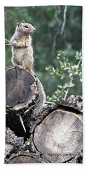 Woodpile Squirrel Bath Towel