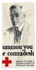 Woodrow Wison Red Cross Roll Call Hand Towel