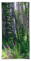 Woods Hand Towel by Beth Saffer