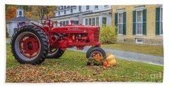 Woodstock Vermont Red Tractor Bath Towel