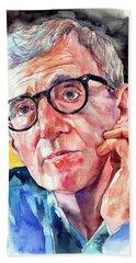 Woody Allen Portrait Painting Bath Towel